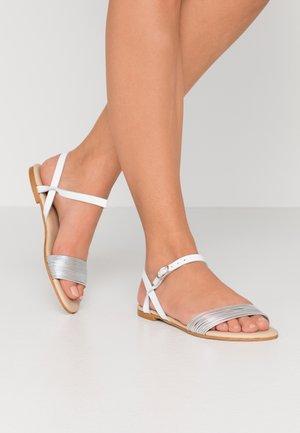 LEATHER SANDALS - Sandals - white/silver