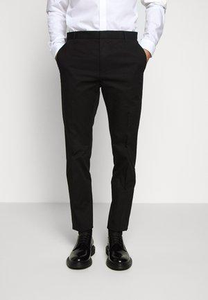 HELDOR - Spodnie garniturowe - black