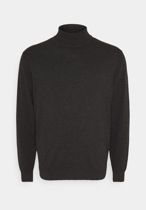 Strikpullover /Striktrøjer - mottled dark grey