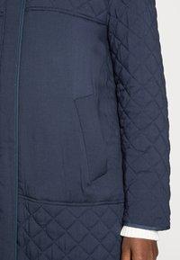 esmé studios - LONG LOOSE QUILT COAT - Classic coat - dark sapphire - 4