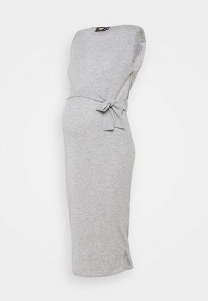 SHOULDERPAD BELTED - Sukienka etui - grey