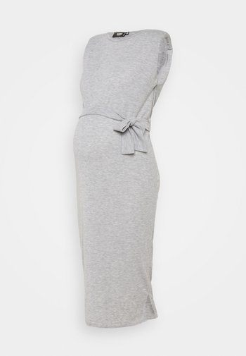 SHOULDERPAD BELTED - Etuikjole - grey