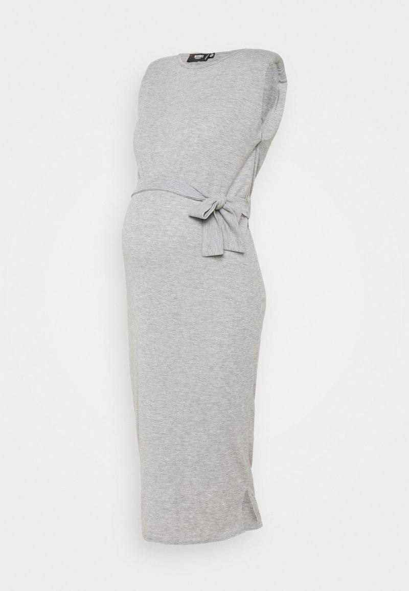 Missguided Maternity - SHOULDERPAD BELTED - Pouzdrové šaty - grey