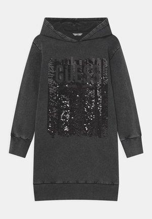 JUNIOR HOODED DRESS - Korte jurk - jet black