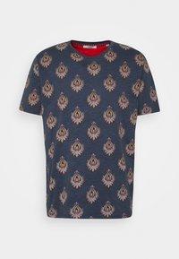 JPRRYDER TEE  - Print T-shirt - ombre blue