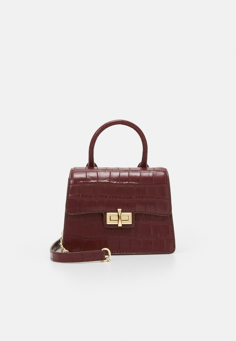 DKNY - JOJO MINI SATCHEL - Handbag - aged wine