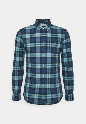 BREWER CHECK - Shirt - reef green
