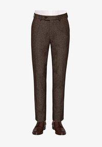 Carl Gross - CG SHIVER - Suit trousers - dunkelbraun - 0