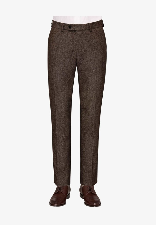 CG SHIVER - Suit trousers - dunkelbraun