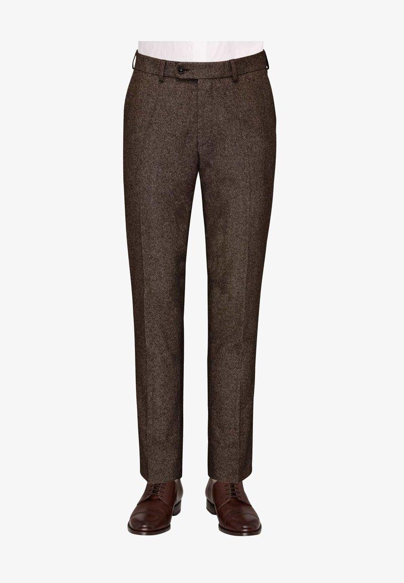 Carl Gross - CG SHIVER - Suit trousers - dunkelbraun