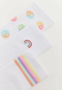 PULL&BEAR - 3 PACK  - Socks - white - 4