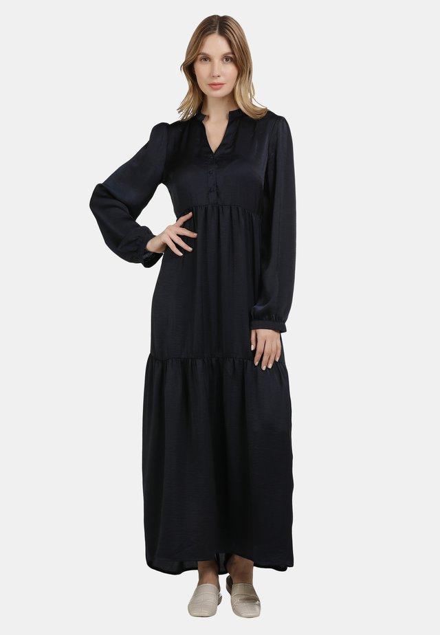 SATINKLEID - Robe longue - marine