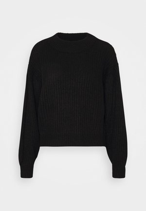 VMFURN LS BALLOON O-NECK  - Jumper - black