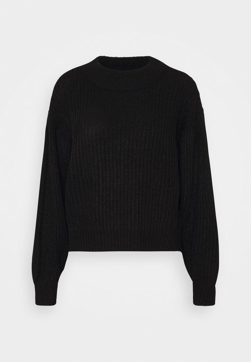 Vero Moda - VMFURN LS BALLOON O-NECK  - Jumper - black