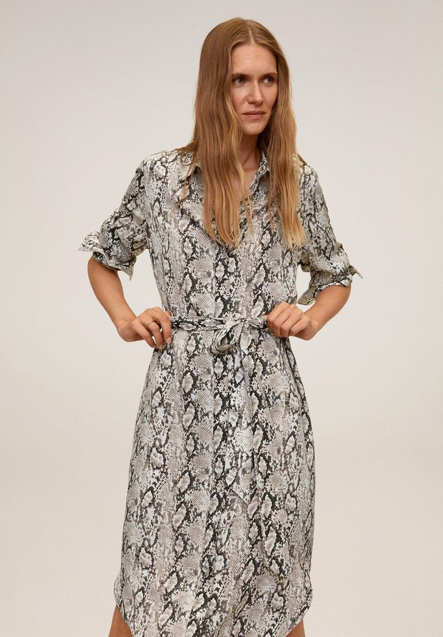 BASIC - Sukienka koszulowa - grau