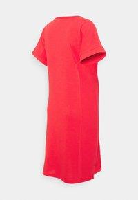 GAP Maternity - ROLL CUFF ZIP ACCESS NURSING DRESS - Gebreide jurk - rose bush - 1