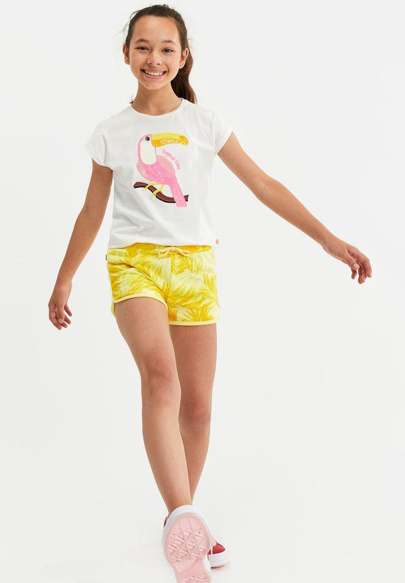 WE Fashion - T-shirt con stampa - white