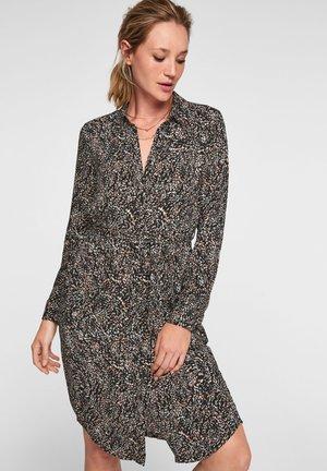 Day dress - black minimal aop