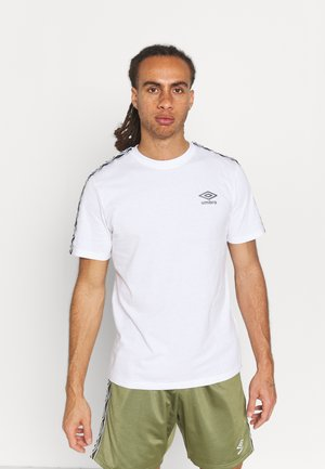 ACTIVE STYLE TAPED TEE - Print T-shirt - white/indian ink