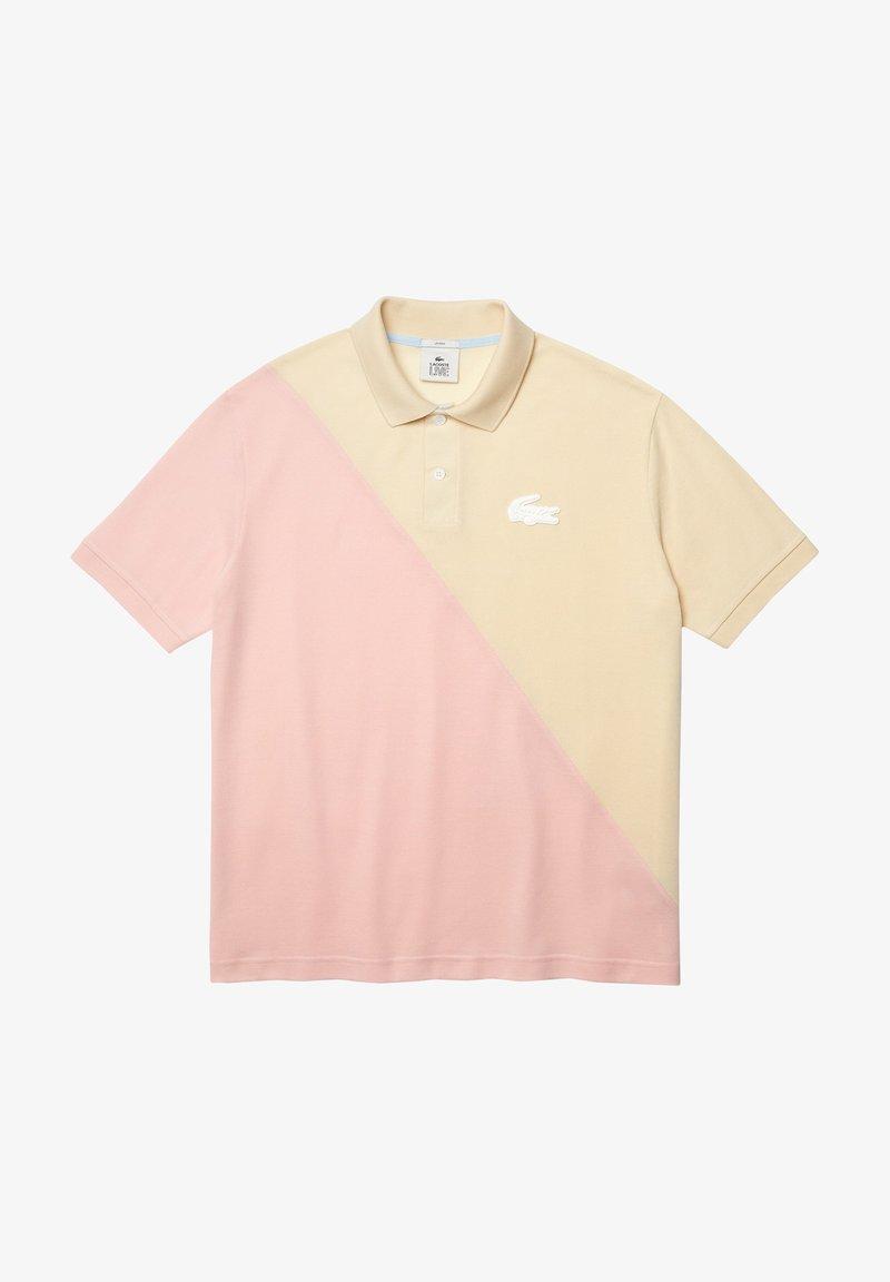 Lacoste LIVE - Polo shirt - beige/rose pale