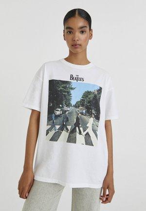 THE BEATLES ABBEY ROAD - Print T-shirt - white