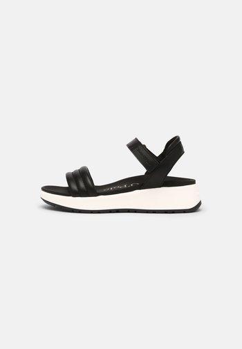 SPORTY - Platform sandals - black