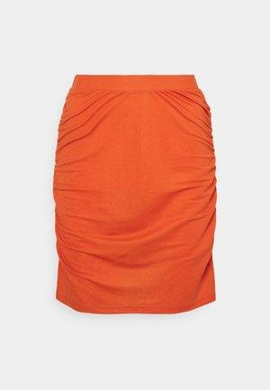 VIWANDERA SHORT SKIRT - Mini skirt - burnt ochre