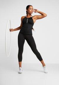 Nike Performance - CAPSULE ELASTIKA TANK  - Sports shirt - black/metallic silver - 1