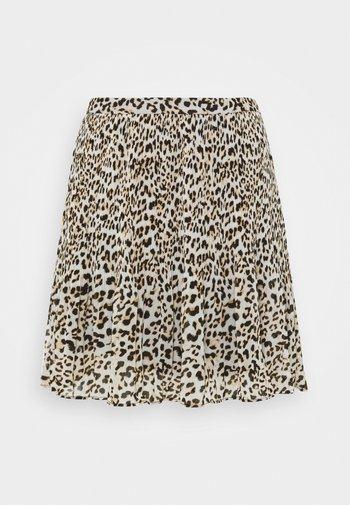 PLISSE - Mini skirt - light grey