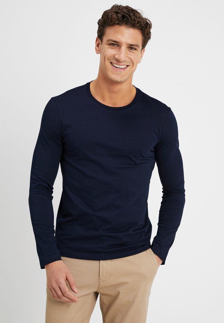 Benetton - BASIC CREW NECK - Long sleeved top - navy