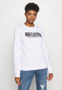 Hollister Co. - CHAIN CROPPED ICON  - Sudadera - white - 0