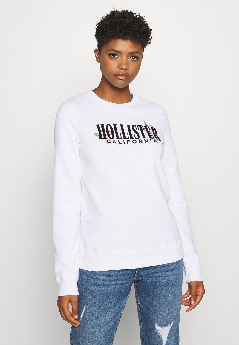 Hollister Co. - CHAIN CROPPED ICON  - Sweatshirt - white