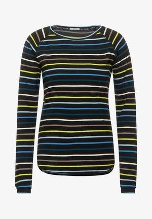 MIT STREIFEN - Long sleeved top - schwarz