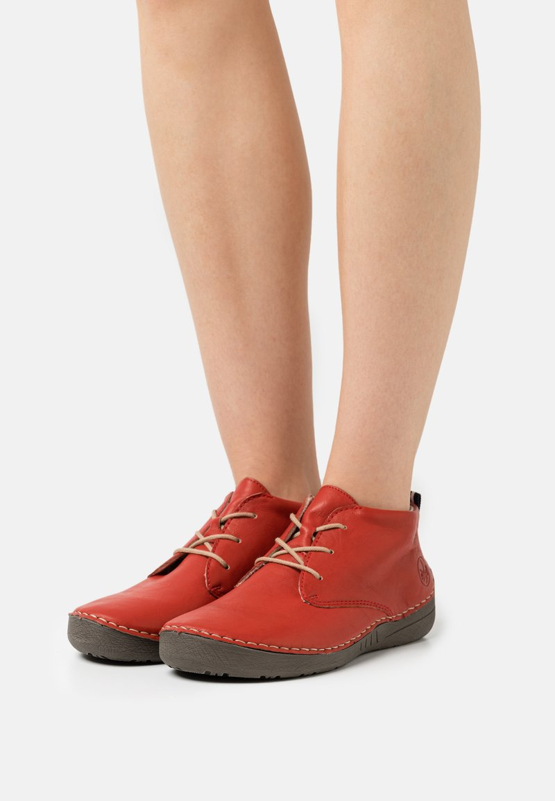 Rieker - Lace-up ankle boots - rot