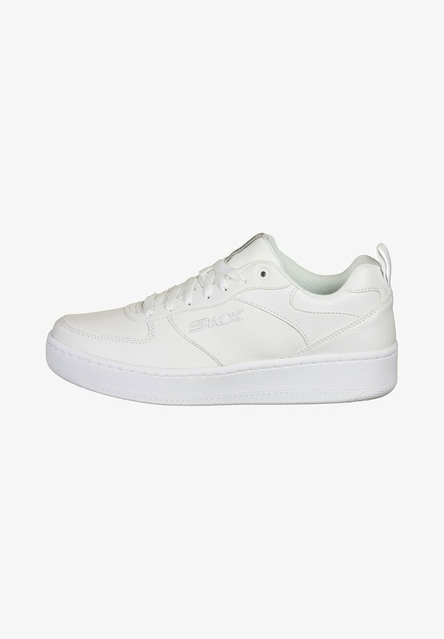 Sneakers basse - white leather white trim