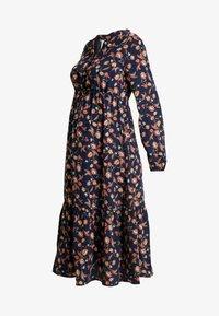 MAMALICIOUS - MLXENI WOVEN MIDI DRESS - Sukienka koszulowa - navy blazer - 4