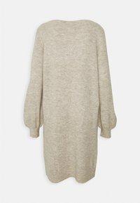 Vero Moda - VMLEFILE BALLOON BOATNECK DRESS - Strikket kjole - birch melange - 1