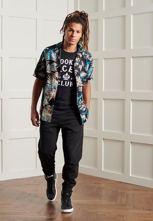 SHORT SLEEVE CUT & SEW HAWAIIAN  - Shirt - black fur