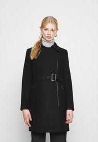ONLY - ONLOLIVIA LONG BIKER COAT - Zimní kabát - black - 0