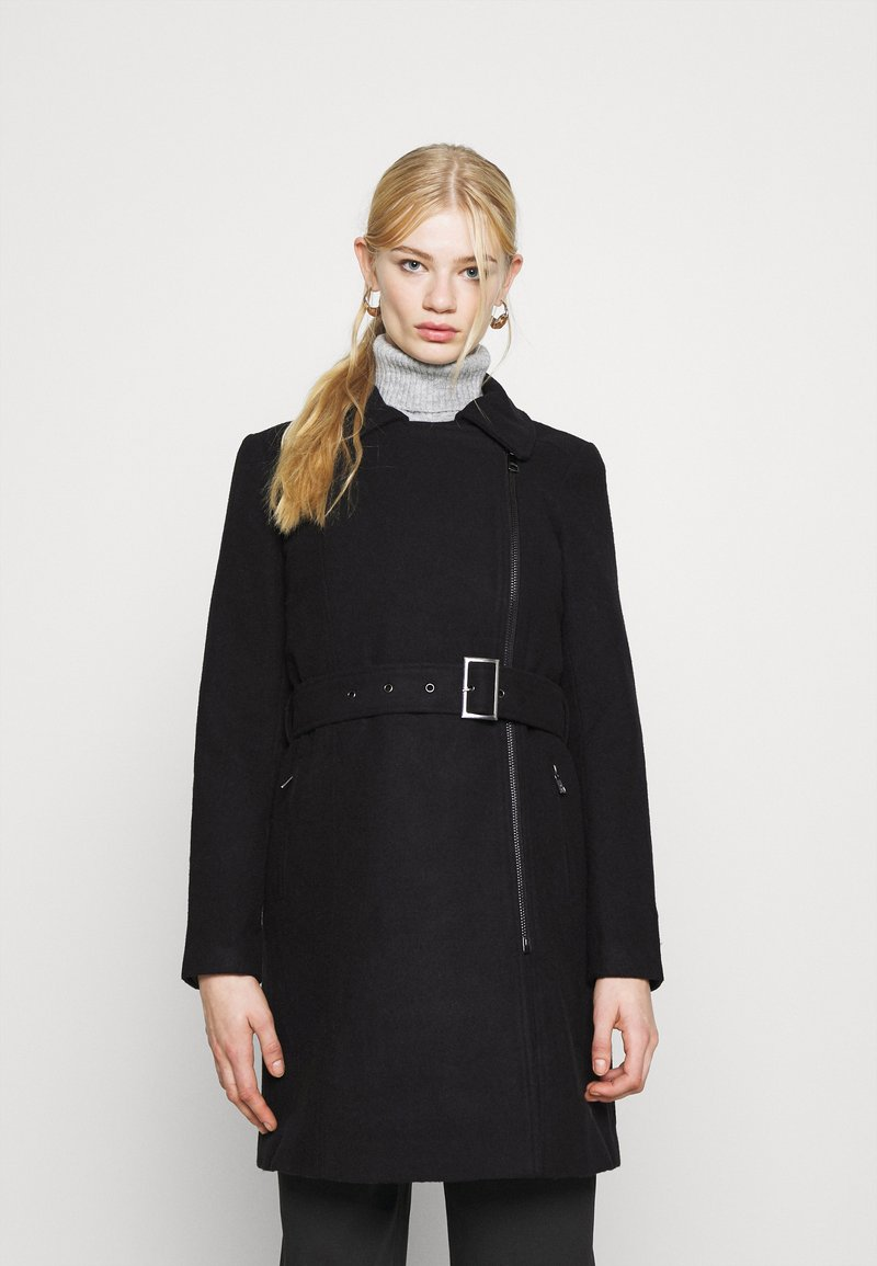 ONLY - ONLOLIVIA LONG BIKER COAT - Zimní kabát - black