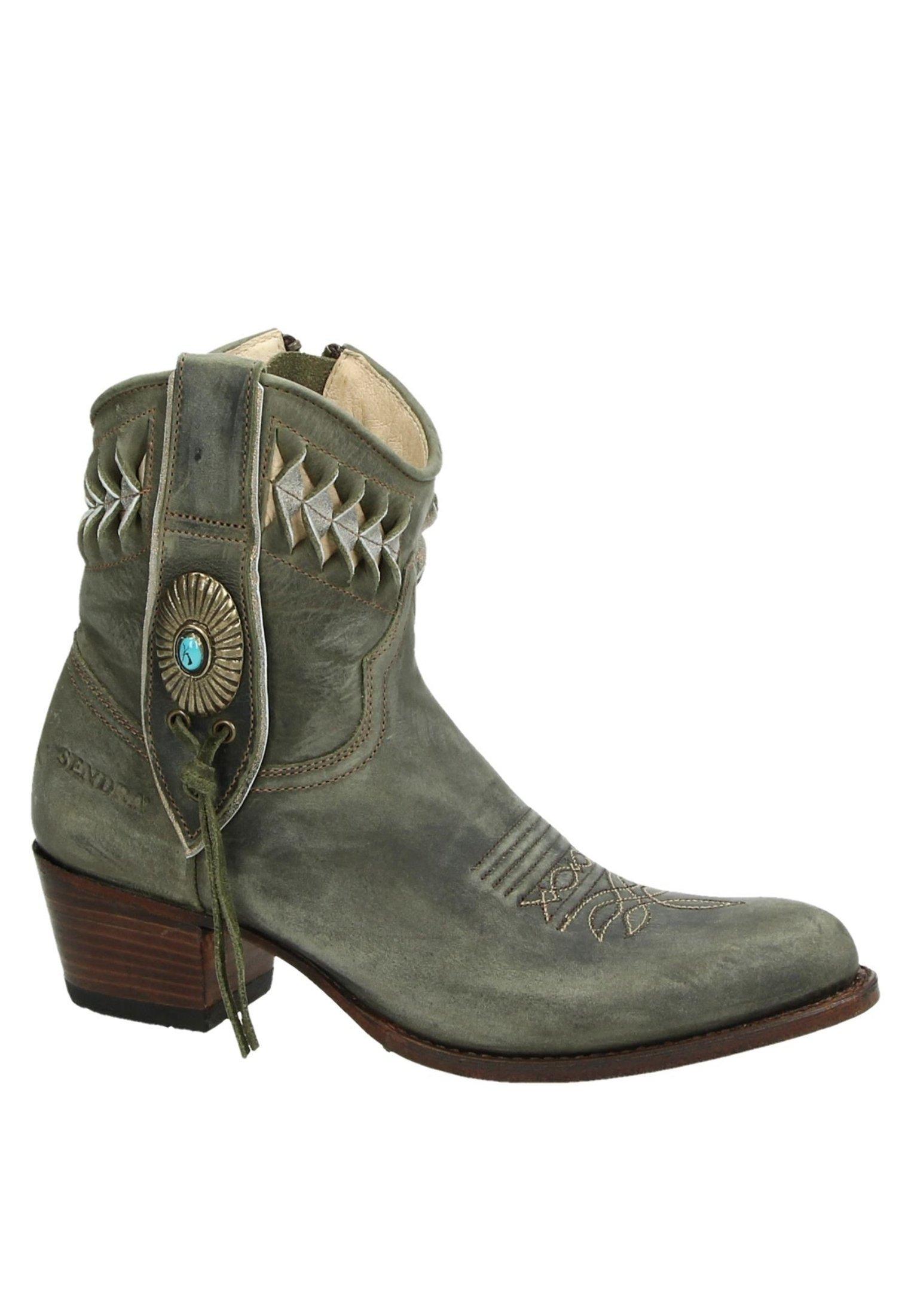Aanbiedingen Best Verkopende Damesschoenen PsdkjGXhisd Sendra DEBORA Cowboy-/Bikerlaarsjes groen 4sgO93Z