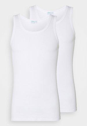 SINGLET 2PACK  - Unterhemd/-shirt - weiss