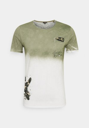 PROJECT ROUND - Print T-shirt - khaki
