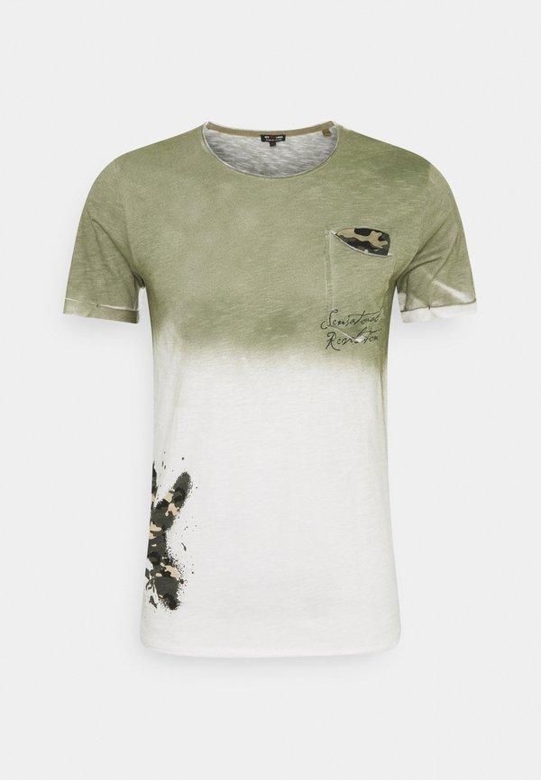 Key Largo PROJECT ROUND - T-shirt z nadrukiem - khaki Odzież Męska GKVX