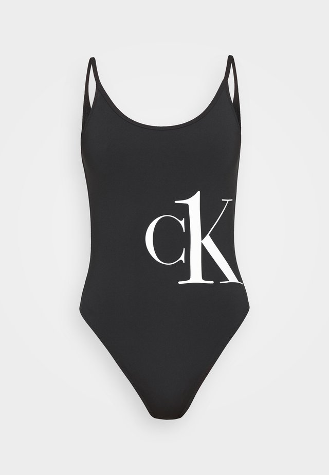 CK ONE SCOOP BACK ONE PIECE - Badedragter - black