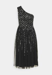 Maya Deluxe - ONE SHOULDER EMBELLISHED MIDI DRESS - Robe de soirée - black - 4