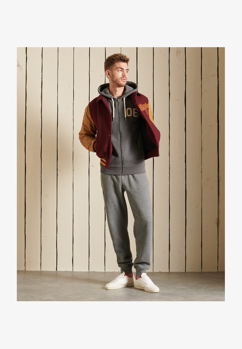 Superdry - Zip-up sweatshirt - rich charcoal marl