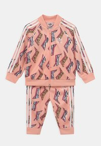 adidas Originals - SET UNISEX - Tracksuit - glow pink/multicolor/white - 0