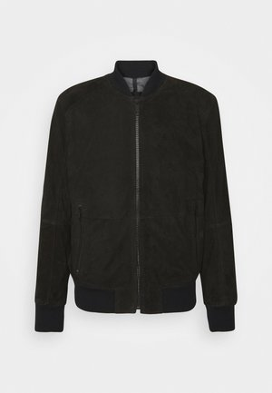 MELTON - Leather jacket - black