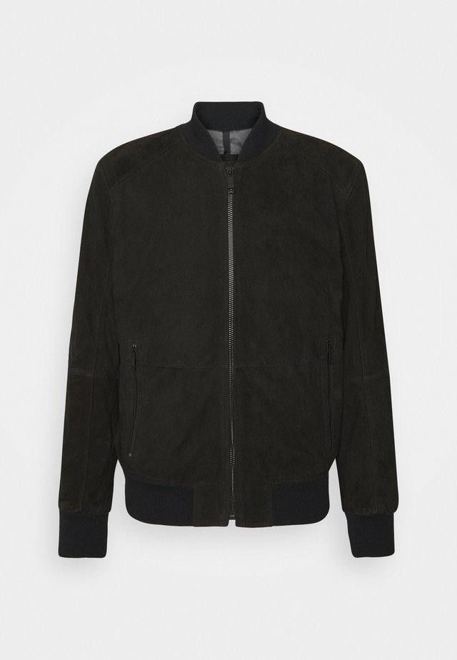 MELTON - Kožená bunda - black